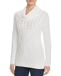 Calvin Klein Mix Stitch Cowl Neck Sweater 100 Bloomingdale's Exclusive Winter White