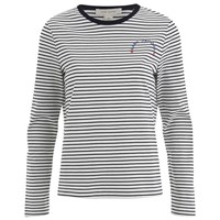 Marc Jacobs Women's Mini Stripes Classic T Shirt Black White