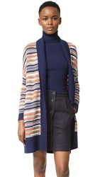 Diane Von Furstenberg Taletha Cardigan Midnight Orange Combo