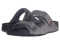Fitflop Gogh Slide Adjustable Charcoal Men's Shoes Gray