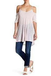 Candc California Stella Strappy Cold Shoulder Tee Pink