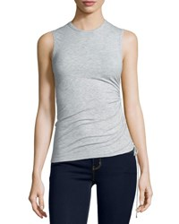 Theory Rimaeya Tie Side Tank Top Frosted Grey