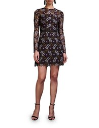 Cynthia Rowley Lynden Bell Floral Lace Long Sleeve Dress Plum