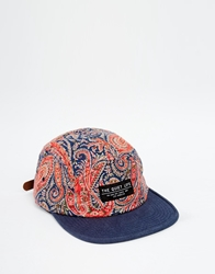 The Quiet Life X Liberty Paisley 5 Panel Cap Blue