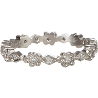 Cathy Waterman Diamond And Platinum Floral Band