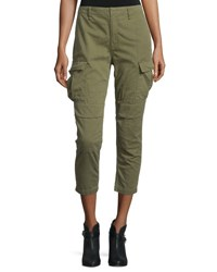 Rag And Bone High Waist Cropped Cargo Pants Army