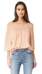 Theory Elistaire Blouse Peach Rose