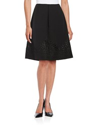 Nipon Boutique Pleated Cut Out A Line Skirt