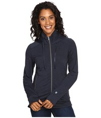 Kuhl Mova Hoodie Midnight Heather Women's Sweatshirt Black