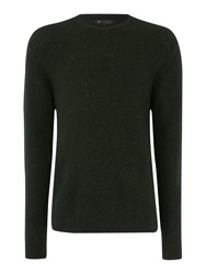 Label Lab York Crew Neck Knitwear Dark Green
