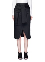 C Meo Collective 'I'm In It' Mock Wrap Front Sash Waist Skirt Black