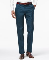 Inc International Concepts Men's Collins Slim Fit Pants Only At Macy's Dark Teal