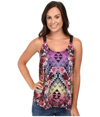 Roper 0427 Poly Slub Jersey Tank Top Blue Women's Sleeveless