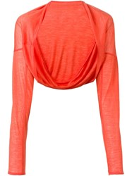 Aviu Aviu Fine Knit Bolero Yellow And Orange