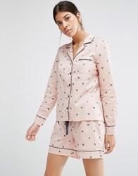 Pieces Wonder Heart Pyjama Set Pink