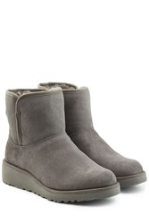 Ugg Australia Classic Slim Short Suede Boots Grey