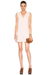 See By Chloe V Neck Mini Dress In Pink