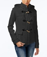 Celebrity Pink Hooded Toggle Peacoat Charcoal