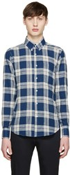 Naked And Famous Navy Plaid Regular Shirt