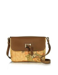 Alviero Martini Small Golden Tie Crossbody Bag Brown