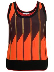 Chesca Samba Print Camisole Orange Black