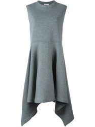 Marni Fluted Sleeveless Dress Grey