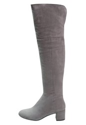 Unisa Kaspio Overtheknee Boots Shark Light Grey