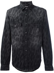 Just Cavalli Animal Print Shirt Grey