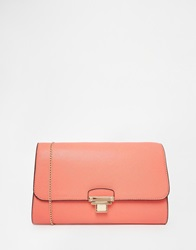 New Look Push Lock Connie Clutch Pink