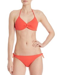 Polo Ralph Lauren Rip Tide Twist Bikini Top Coral