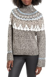 Women's Bp. Fair Isle Knit Pullover Grey Medium Alpine Fairisle