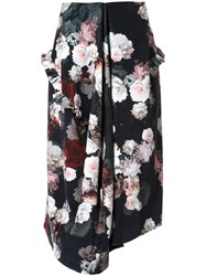 Preen By Thornton Bregazzi Flower Print Skirt Black