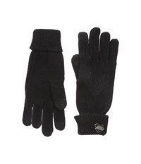 Betsey Johnson Open Your Heart One Touch Gloves Black Dress Gloves