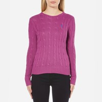 Polo Ralph Lauren Women's Julianna Crew Neck Jumper Hyannis Purple