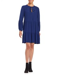 Erin Fetherston Pintucked Peasant Dress Navy