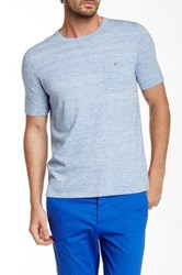 Autumn Cashmere Crew Neck Pocket Tee Blue