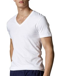 Polo Ralph Lauren V Neck T Shirt Set White