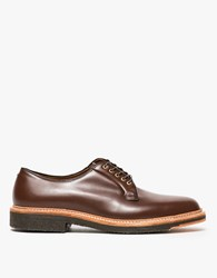 Alden Lombardy Plain Toe Blucher Dark Brown