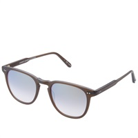 Garrett Leight Brooks Sunglasses Matte Espresso And Gold Mirror