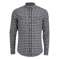 Boss Orange Men's Edoslime Flannel Check Shirt Black