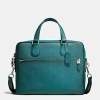 Coach Hudson 5 Bag In Burnished Crossgrain Leather Silver Atlantic