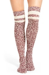 Treasure And Bond Women's Slub Knit Marled Over The Knee Socks