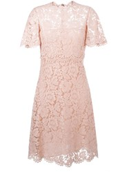 Valentino Lace A Line Dress Pink And Purple
