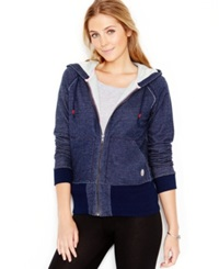 Lucky Lotus By Lucky Brand Zip Front Hoodie