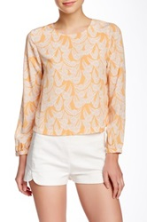 Porridge Printed Long Sleeves Blouse White