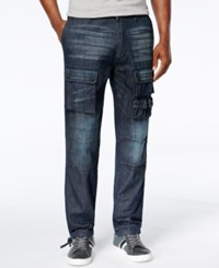 Sean John Men's Washed Denim Flight Pants