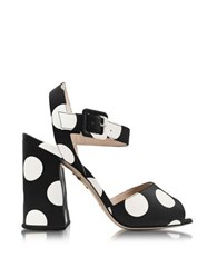 Charlotte Olympia Emma Black Polka Dot Print Leather Sandal