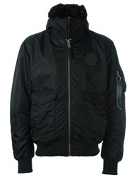 Marcelo Burlon County Of Milan Hooded Bomber Jacket Black