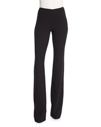 Michael Kors Collection Flare Leg Wool Crepe Pants Black Size 8