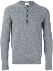 Dondup Henley Style Jumper Grey